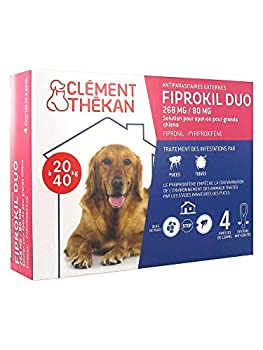Clément Thékan Fiprokil Duo 268 mg/80 MG Grand Chien 4 Pipettes