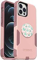 Bundle: OtterBox Commuter Series Case for iPhone 12 & iPhone 12 Pro - (Ballet Way) + PopSockets PopGrip - (Cactus Pot)