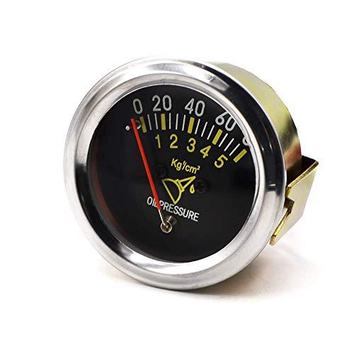 KEKEYANG Instrumententafel 52mm 2 Zoll Mechanische Auto 0-80 PSI Öldruckanzeige Automobil-Sensor-Metric Tabelle for Motoren, Schiffe, modifizierte Autos Verschleißteile