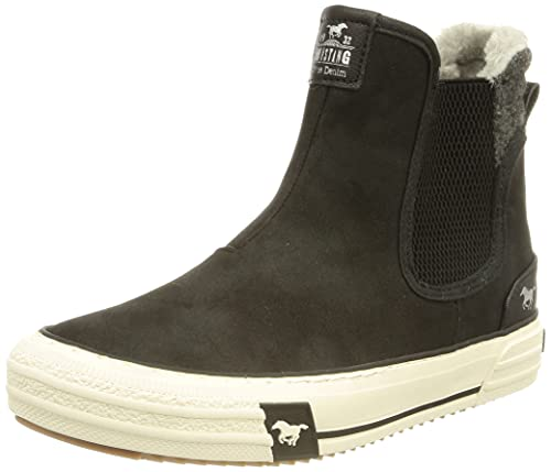 MUSTANG Damen 1410-601 Sneaker, schwarz, 41 EU