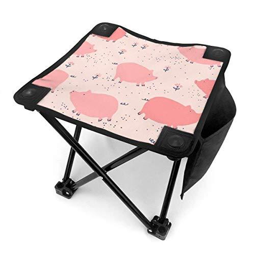 COMMER Taburete plegable de color rosa con bolsa de transporte, para pesca, senderismo, jardinería y playa, 30,5 x 30,5 cm