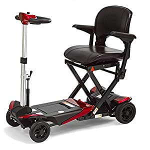 Monarch Smarti Mobility Scooter – Lightweight Folding Electric Scooters for Adult, 4mph, Red