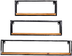 Home Storage Rack/Wall Decorations Design Shelf (Pack of 3)Bar Wall mounted Shelf Ceiling Rack Ledge used for Storage Wine...