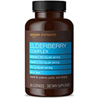 Amazon Elements Elderberry Complex, 60 Berry Flavored Lozenges