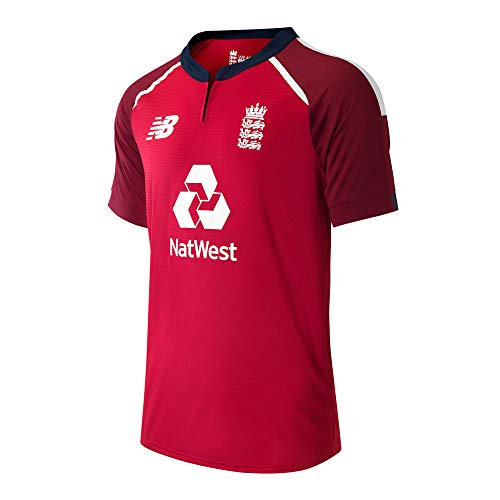 New Balance Herren ECB T20 SS Replica T-Shirt, Rot-Team Red, M