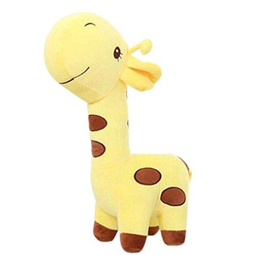 Georgie Porgy Giocattolo Morbido Morbido del Bambino del Bambino del Giocattolo della Peluche farcito Peluche dei Bambini (Giraffa 10'' Gialla)