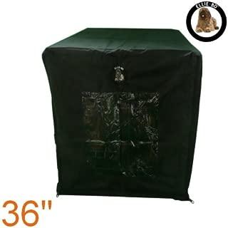 Ellie-Bo 42 Pollici Gabbia per Cani o Cassa Extra Large 100 cm x 66 CMS del Cane Blu Velluto a Coste Fianchi e Grigio Faux Fur Topping