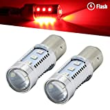 brakelight strobe module - Syneticusa 1157 Red LED Stop Brake Flash Strobe Rear Alert Safety Warning 12-LED Light Bulbs