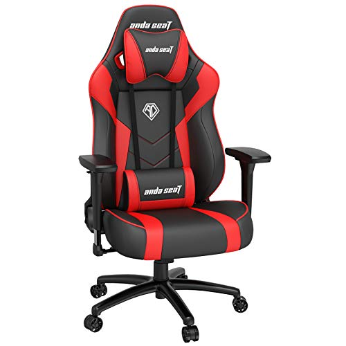 Ergonomic Gaming Chair,ANDASEAT Dark Demon Swivel PVC Leather Computer Office Chair,4D Adjustable PU...
