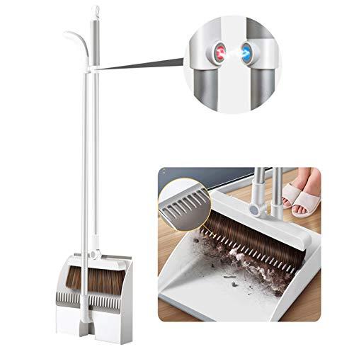 tackjoke Besen und Kehrschaufel Magnetischer 180 ° Verstellbarer Besen90 ° Faltbarer Kehrschaufel Mit Spalten Kalten Edelstahl 304