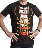 Pirate Costume | Jumbo Print Novelty Funny Caribbean Cruise Shirt Unisex T-Shirt-Adult,XL Black