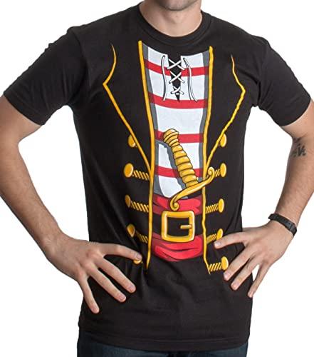Pirate Costume   Jumbo Print Novelty Funny Caribbean Cruise Shirt Unisex T-Shirt-Adult,M Black