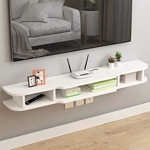 Wall Mounted TV meubel met 3 Independent Storage Units Floating TV meubel kabelopbergvak Living Room Puin opslagruimte (Color : White, Size : 120cm)