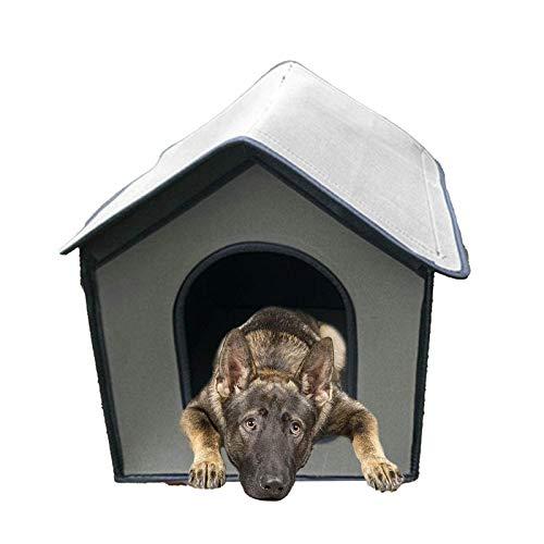 Cave para gatos y mascotas refugio al aire libre, impermeable, plegable, color plateado