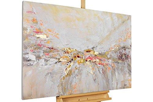 KunstLoft® Acryl Gemälde 'Ruhe vor dem Sturm' 120x80cm | original handgemalte Leinwand Bilder XXL | Abstrakt Beige Modern Sand | Wandbild Acrylbild Moderne Kunst
