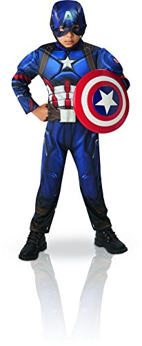 Rubie's-déguisement officiel - Marvel- Déguisement luxe Civil War Captain America - Taille M- I-620679M