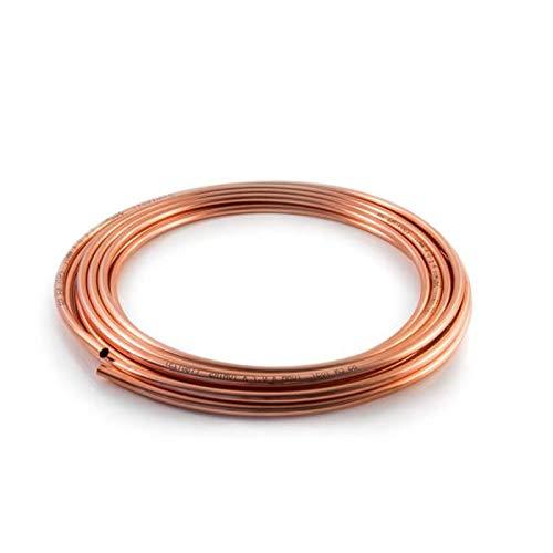 Tubo de cobre en espiral Microbore flexible para instalaciones de agua/gas/fontanería y bricolaje (5 mm, 2 metros)