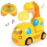 kramow Coches Teledirigidos Niños 2 Años,Juguetes 2 Años,RC Juguetes para Bebés Niños 2 Años,Juguetes Niños 3 Años,Música y Luces