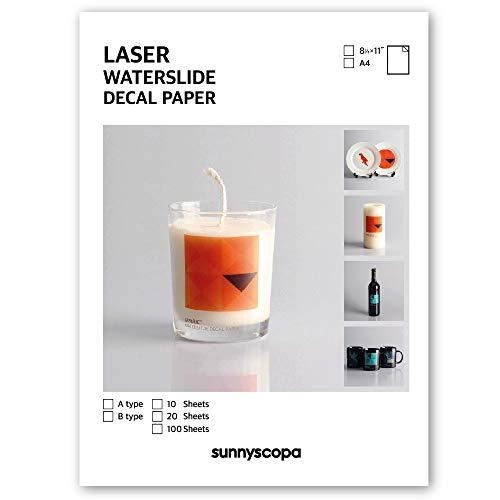 Sunnyscopa Laser-Decal Papier Standard Transparent A4 10 Blatt