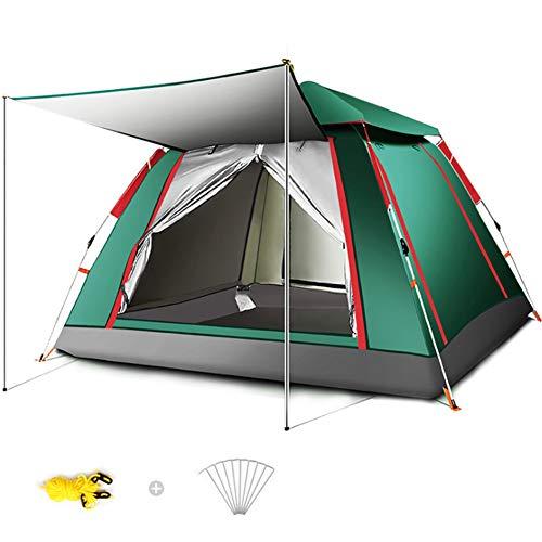 Wsaman 3-5 Personen Portable Beach Zelt Zelt, Pop Up Zelt Wurfzelt Campingzelt Pavillon Gartenzelt Festivalzelt Ultraleicht Einfache Einrichtung UV-Schutz für BBQ Strand Garten Tents Teepee,Grün