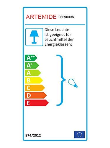 Artemide Tolomeo plafondlamp Decentrata 36, lampenkap pergament