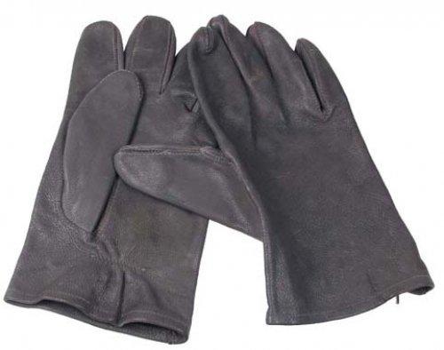 BW Lederhandschuhe, grau, ungefüttert, gebr., I. Wahl