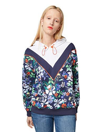 TOM TAILOR Damen 1009840 Sweatshirt, Mehrfarbig (Flower Design 15874), L