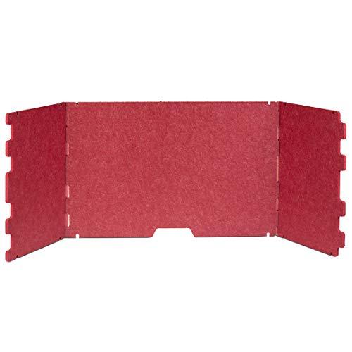Escreo Akustische Sichtschutzplatte, schalldämmend, Trennwand für Zuhause, Büro, offene Räume, Studenten, umweltfreundlich und kompakt (Rot)