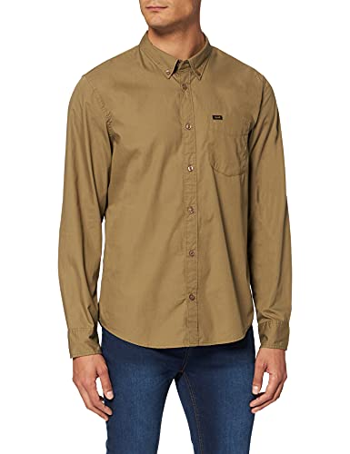 Lee Button Down Camisa Casual, Verde (Utility Green NG), XX-Large para Hombre
