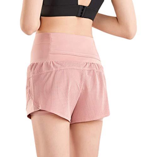 Pantalones Cortos Deportivos para Correr de Secado rápido para Mujer, Cintura Alta, Control de Abdomen,...