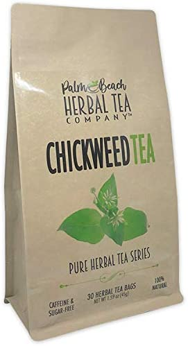 Chickweed Tea Pure Herbal Tea Series by Palm Beach Herbal Tea Company 30 Tea Bags 100 Natural product image