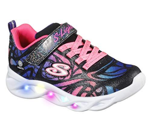 Skechers Kids Girls Sport Footwear - Zapatillas de Deporte para niños, Talla S, Color Negro