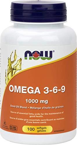 NOW Omega 3-6-9 1000mg (Seed) 100 Softgels, 100 g