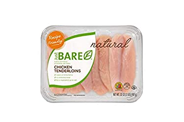 Just BARE All Natural Fresh Chicken, Family Pack of Hand-Trimmed, Boneless, Skinless Tenderloins, 2.