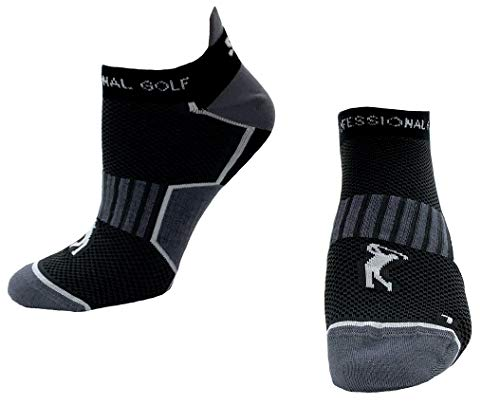Sportswear Kingdom Kurze Golfsocken Herren Junioren Golfstrümpfe (schwarz, 41/47 EU)