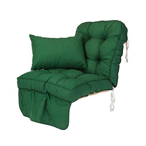Alfresia Replacement Classic Garden Swing Seat Cushion in Green
