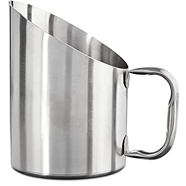 Bowlmates Stainless Steel Dog Food Scoop, 2 Cup, Large, Silver