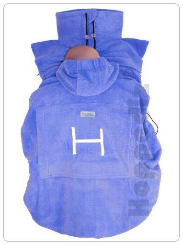 Hoppediz Fleece Cover f. Babytrage Bauchtrage Tragetuch Farbe: Eisblau