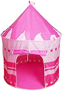 Kids Play Tent Girl Princess Castle House Tent for Indoor/Outdoor Use, Portable with Carrying Case