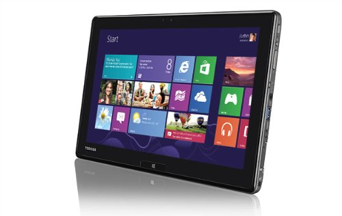 Toshiba WT310-105 25,7 cm (10,1 Zoll) Tablet-PC (Intel Core i5 3339Y, 1,5GHz, 4GB RAM, 128GB SSD, Intel HD 4000, Win 8) silber