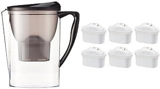 Amazon Basics Carafe filtrante 2,3 litres avec lot de 7 cartouches filtrantes (6+1 offerte), compatible carafes Brita Ma...