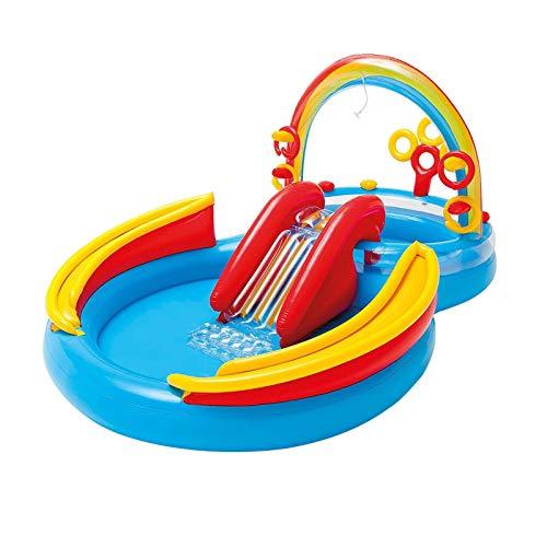 Bettying Piscina hinchable para niños con tobogán, para niños a partir de 3 años