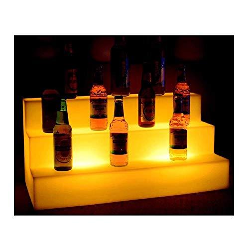 Bandeja De Vino Luminosa, Cerveza Champagne Cubo De Hielo Bandeja Creativa Escalera Muebles De Barra De Luz LED Control Remoto Colorido Champán De Hielo Cerveza Champagne Impermeable Cubo Para KTV Par