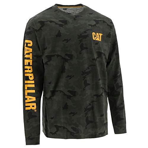 Caterpillar Herren Trademark Banner L/S Tee T-Shirt, Night Camo, 4X-Groß