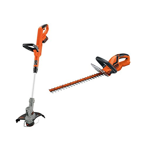 BLACK+DECKER LHT2220 22-Inch Hedge Trimmer LST300 12-Inch String Trimmer Edger