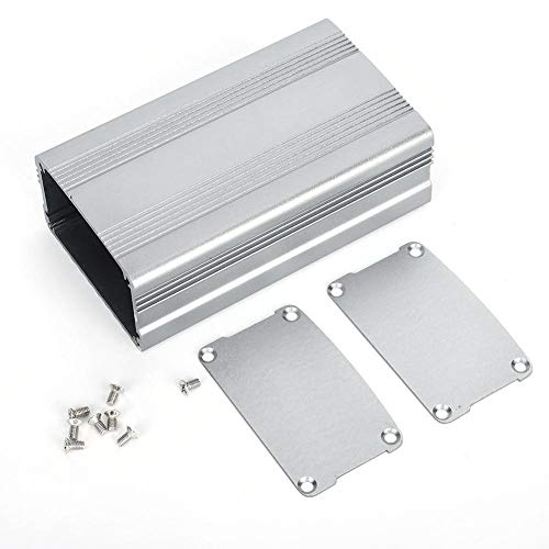 Suchinm Aluminium-Projektbox, 38x63x110mm Grau Aluminium-Projektbox Elektronisches Produkt Wärmeableitungsgehäuse Gehäuse für Haushaltselektrik