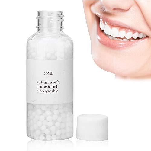 Brrnoo Temporäres Zahnreparaturset, Provisorischer Zahn Zahnfüllung, DIY Wiederherstellung der Zahnlücke,Lückenfüllmaterial für Fotografie, Make-up oder temporäre Füllungen(50 ml)