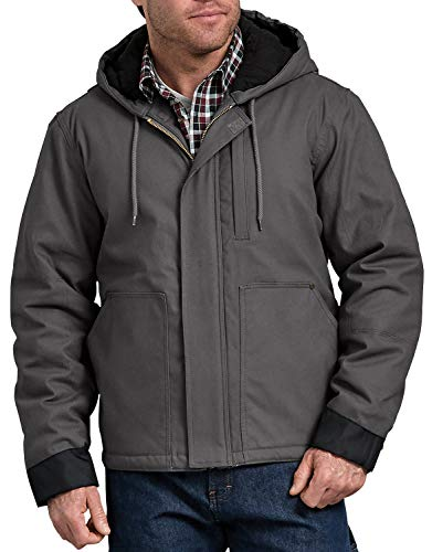 Dickies Men's Sanded Duck Flex Mobility Jacket, Slate, L