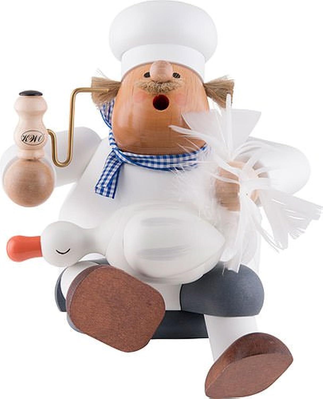 KWO Olbernhau 21206 Ruchermnnchen Koch mit Gans Gre L, 25 cm