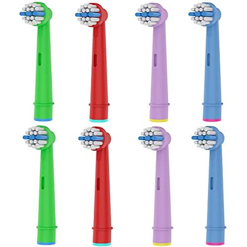 8er Aufsteckbürsten kompatibel mit Oral b kids elektrische Zahnbürste - Frezahn Kinder Ersatzbürsten – Soft Borsten – Small Zahnbürstenköpfe